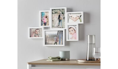 my home Bilderrahmen Collage, für 6 Bilder, Fotorahmen, weiß kaufen