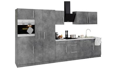wiho Küchen Küchenzeile »Cali«, mit E-Geräten, Breite 360 cm mit Metallgriffen kaufen