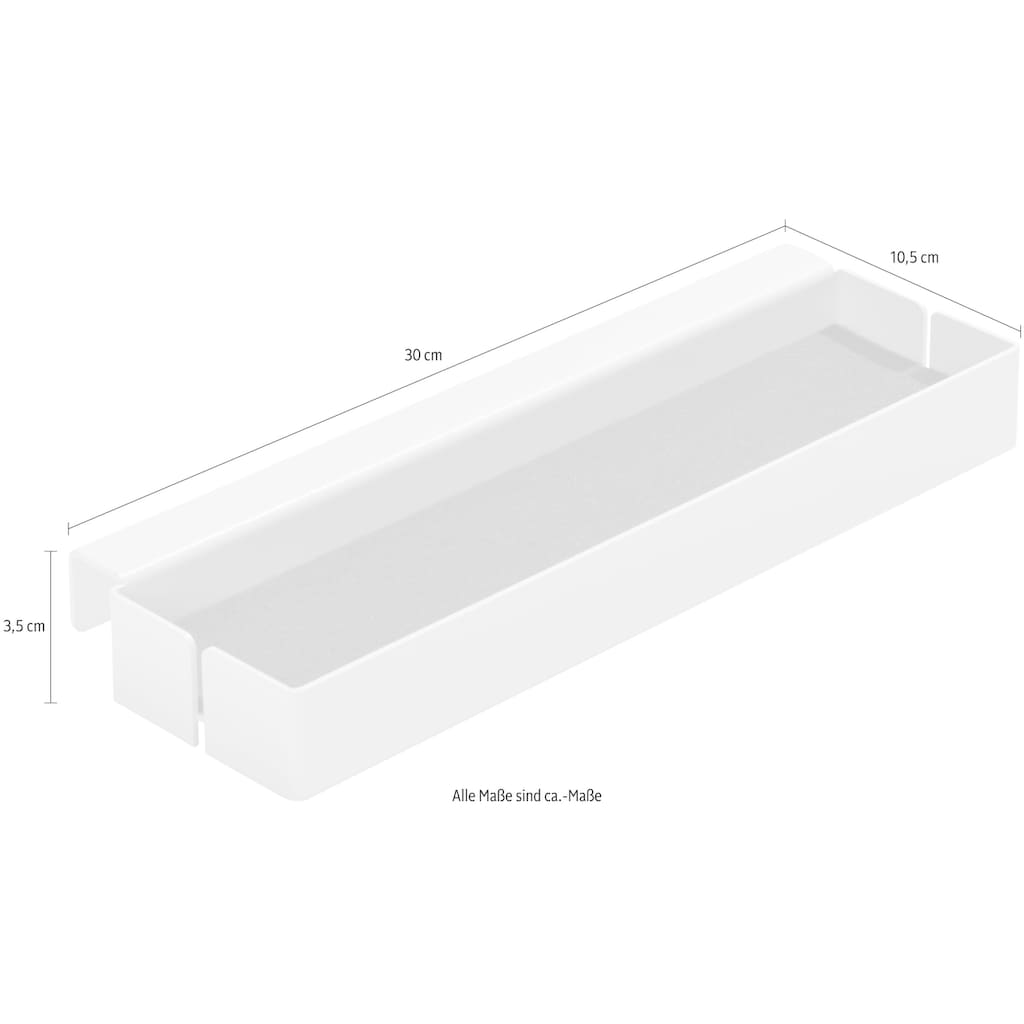Müller SMALL LIVING Ansteckplatte »FLAI Add-On-Element No. 1«, geeignet für Kanten mit 18 mm Materialstärke