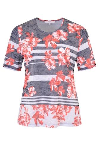 NAVIGAZIONE Più Sommerliches Shirt mit Ausbrennermuster kaufen