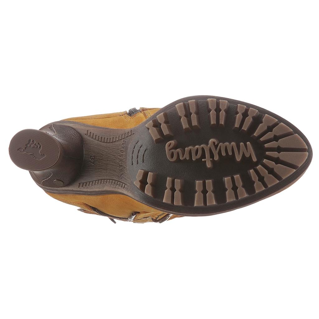 Mustang Shoes Stiefel, mit modischen Zierriemchen