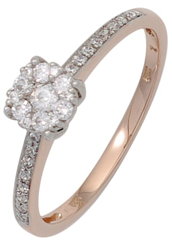 JOBO Diamantring, 585 Gold bicolor mit 29 Diamanten kaufen
