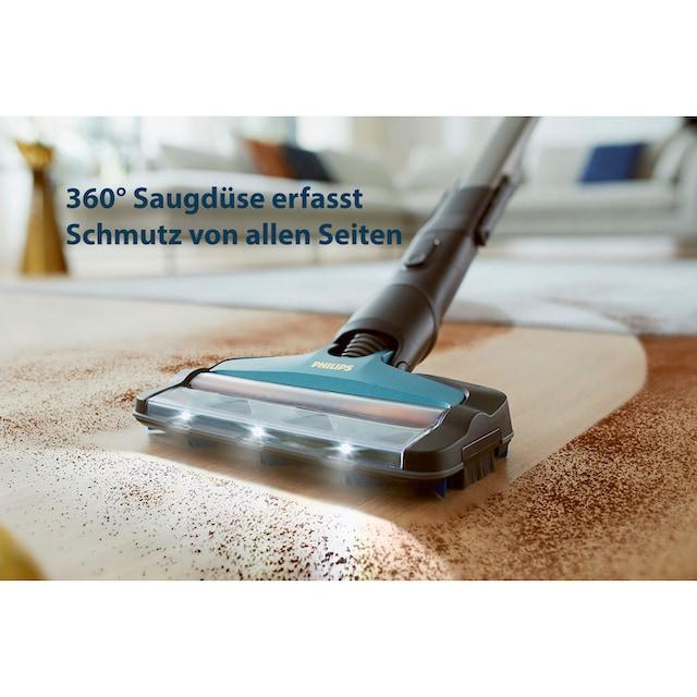 Philips Akku-Hand-und Stielstaubsauger XC8147/01 SpeedPro Max Aqua, 360°-Saugdüse, 80 Min. Akkulaufzeit, beutellos
