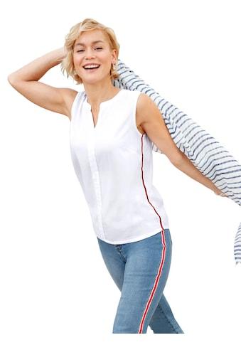 Casual Looks Blusentop mit streckenden Streifen seitlich kaufen