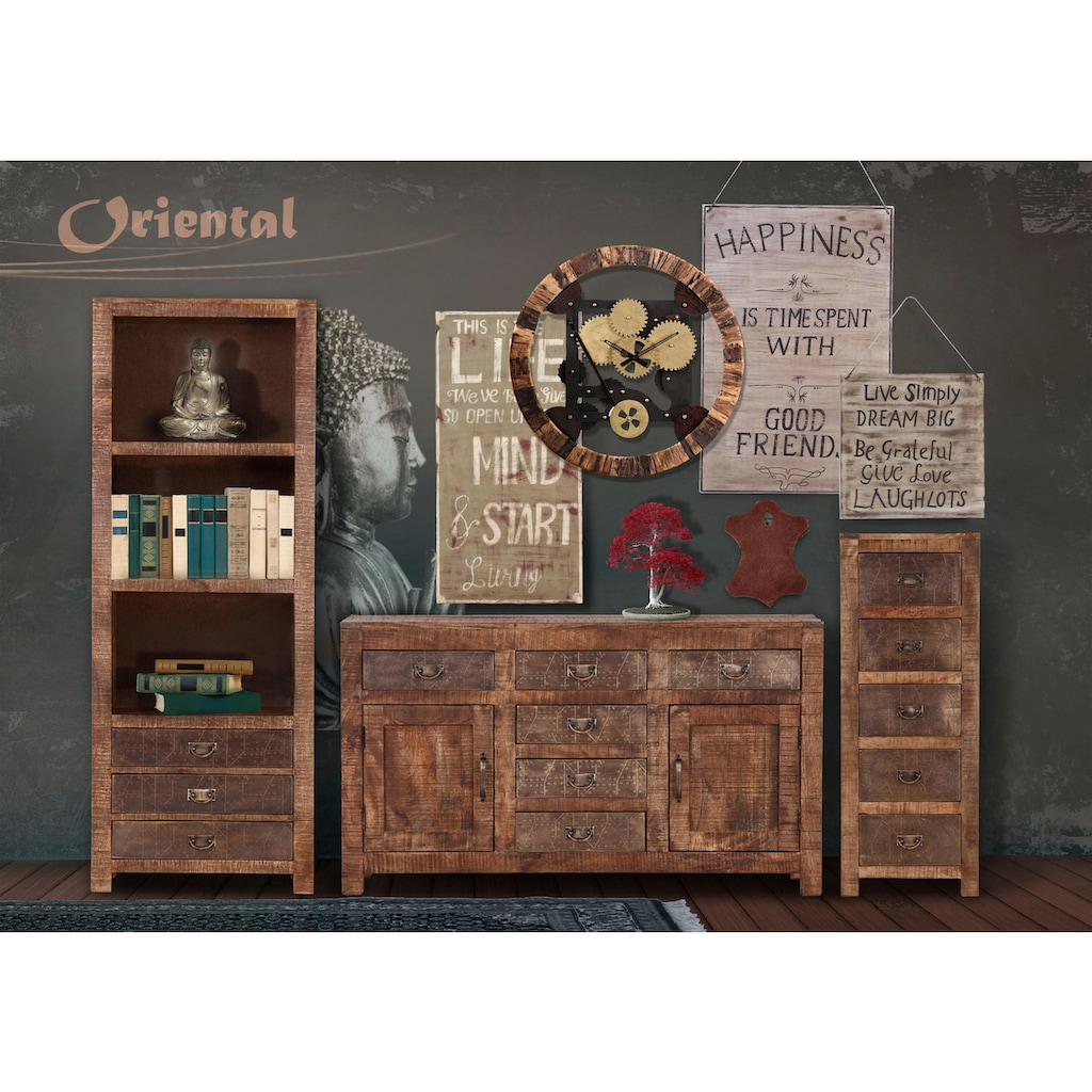 Gutmann Factory Bücherregal »Oriental«, im Lodge-Stil, aus Massivholz Mango