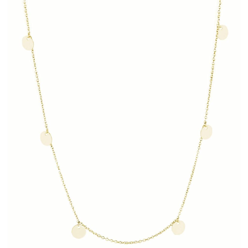 Luigi Merano Collier »mit Behang Plättchen, Gold 585«