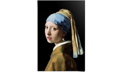 Reinders! Poster »Poster Das Mädchen mit dem Perlenohrgehänge Jan Vermeer - Alte Meister - Kunst - Mauritshuis«, Menschen, (1 St.) kaufen