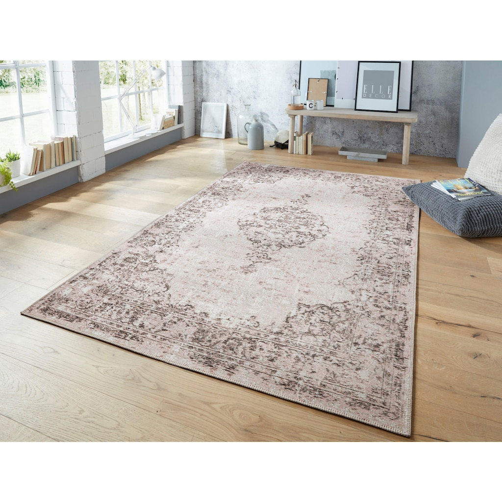 ELLE Decor Teppich »Vertou«, rechteckig, 4 mm Höhe, Vintage Design, Wohnzimmer