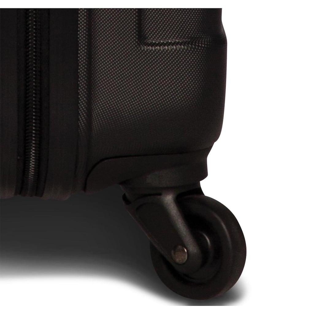 fabrizio® Hartschalen-Trolley »Formation M, 67 cm, Schwarz«, 4 Rollen