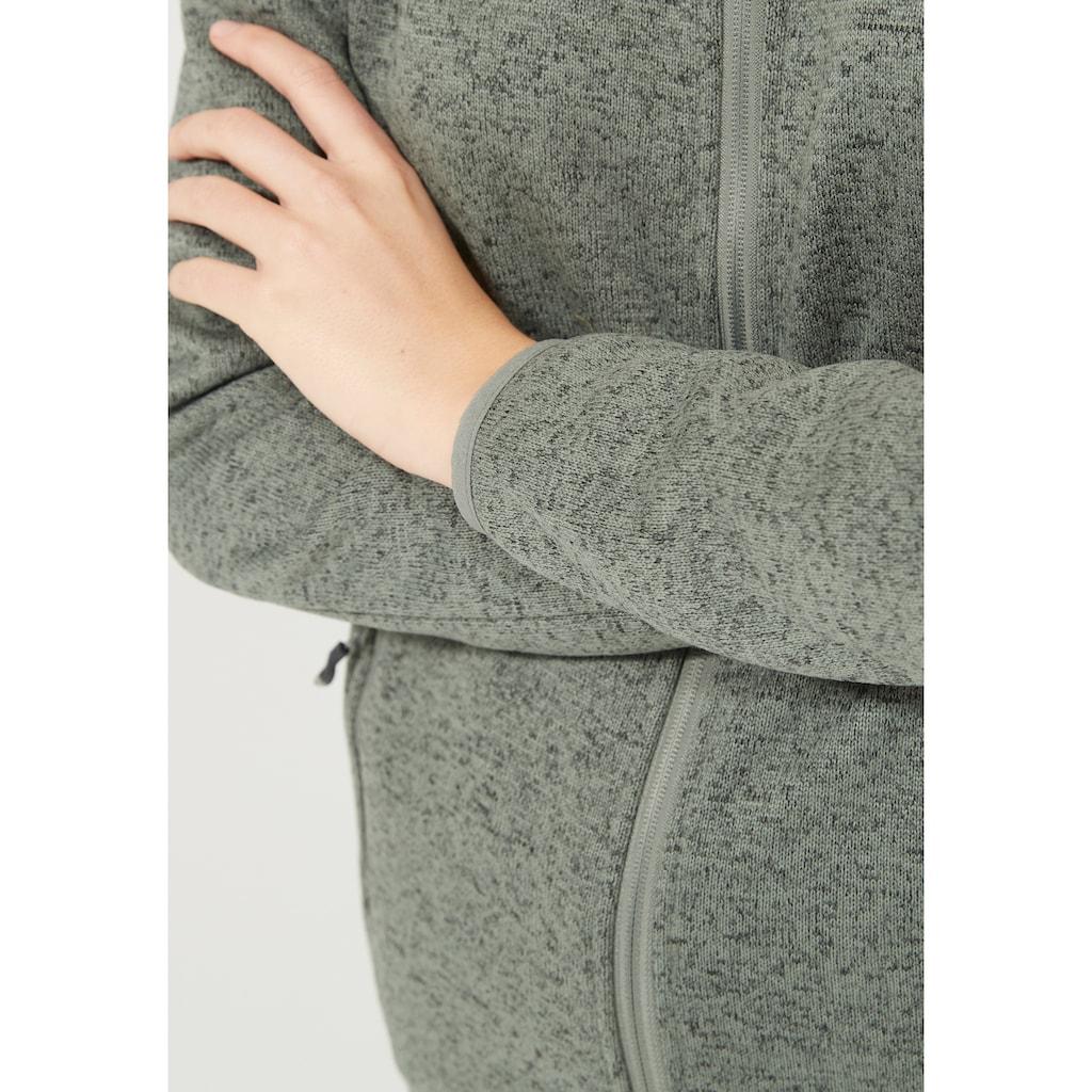 WHISTLER Fleecejacke »Maleo W Melange Fleece Jacket«, im sportlichen Wollstrick-Look