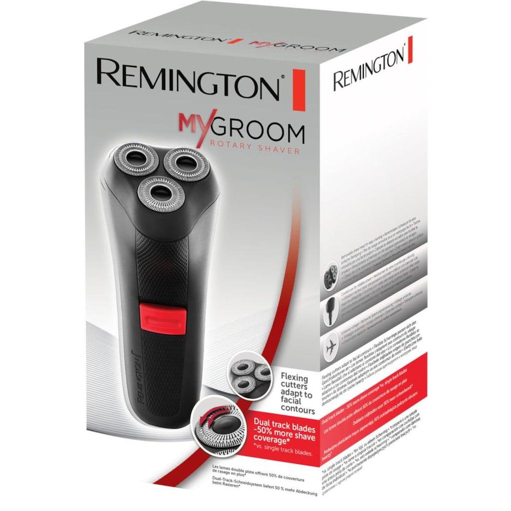 Remington Elektrorasierer »MyGroom R0050«, Netzbetrieb, weltweite Spannungsanpassung, schwarz/rot