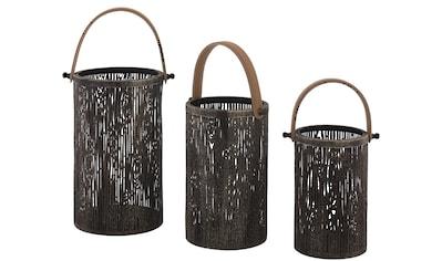 Laterne, aus Metall im Baumlook, mit Tragegriff kaufen