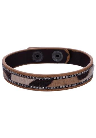 J.Jayz Armband »Leo Look, braun - grau - schwarz« kaufen