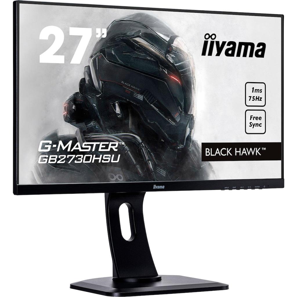 """Iiyama LED-Monitor »G-MASTER GB2730HSU«, 68,6 cm/27 """", 1920 x 1080 px, Full HD, 1 ms Reaktionszeit, 75 Hz, inkl. Office-Anwendersoftware Microsoft 365 Single im Wert von 69 Euro"""