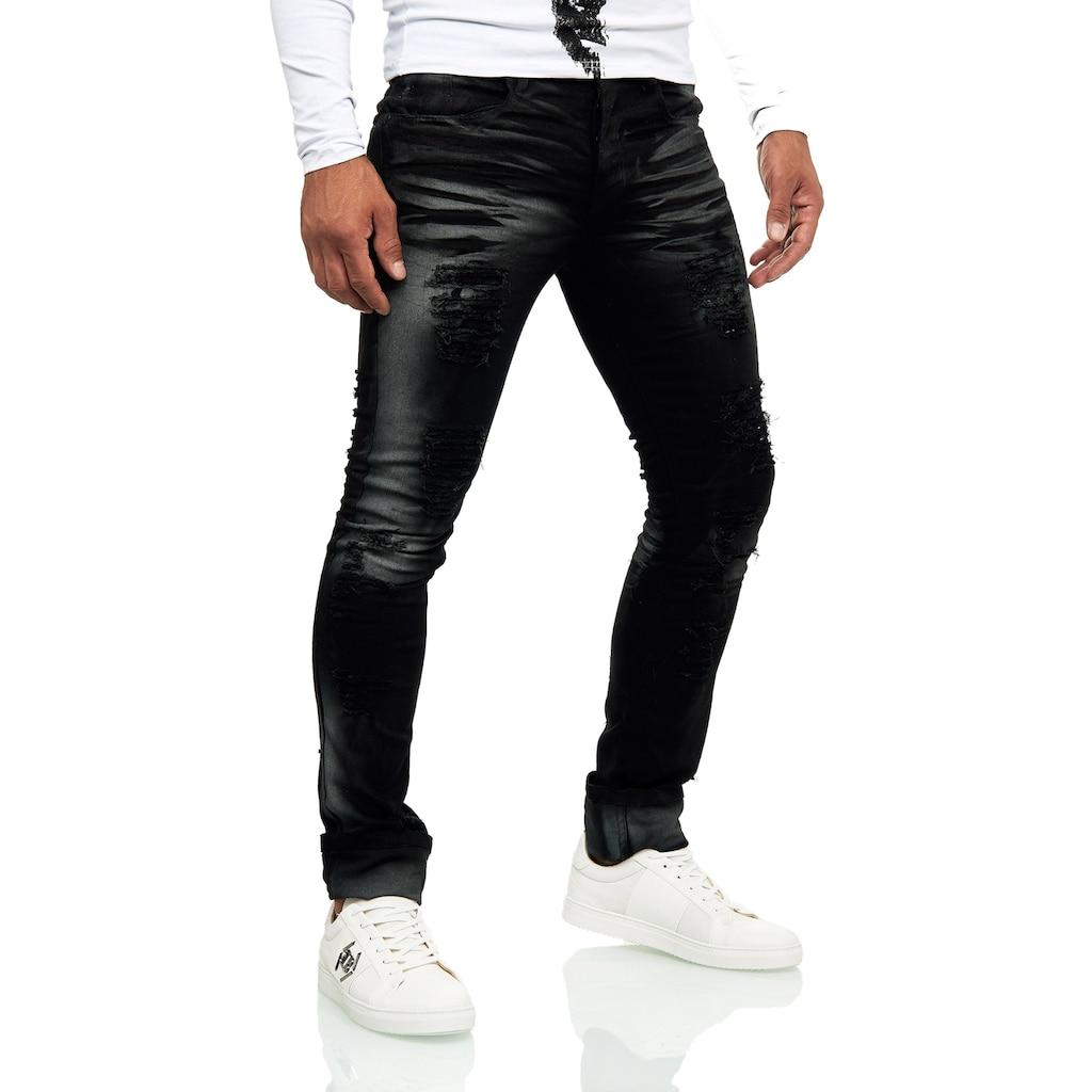 KINGZ Slim-fit-Jeans, im Destroyed-Look mit auffälliger Waschung