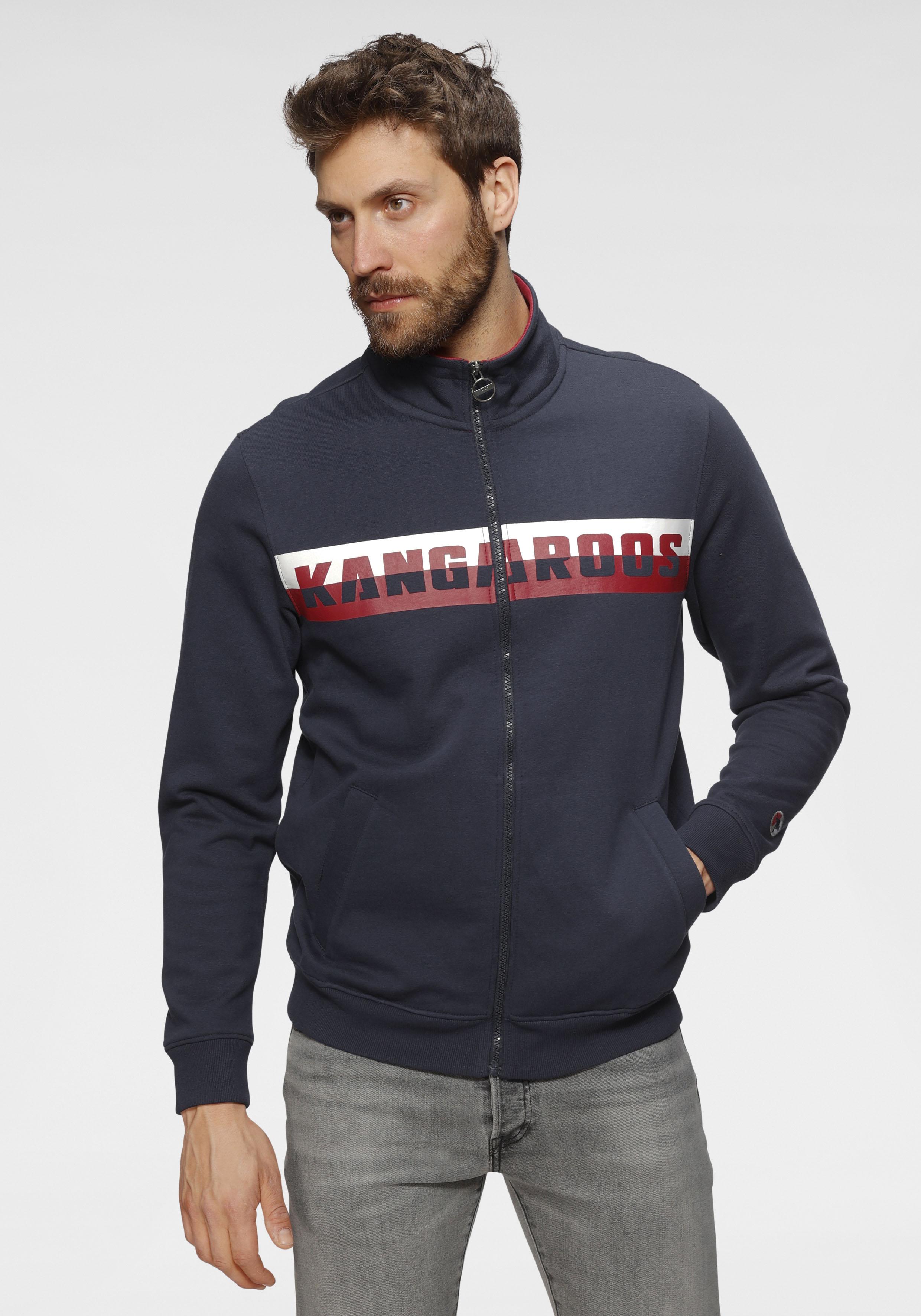 kangaroos -  Sweatjacke, mit farbigem Logoprint