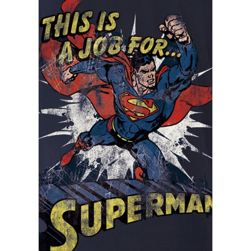 LOGOSHIRT T-Shirt »Superman«, im coolen Design