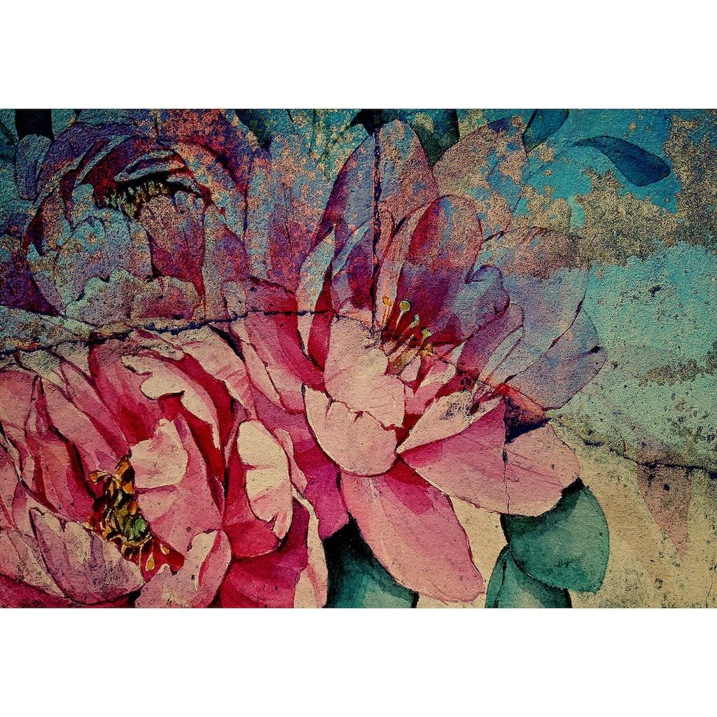 Consalnet Vliestapete »Bunte Vintage Blumen«, floral