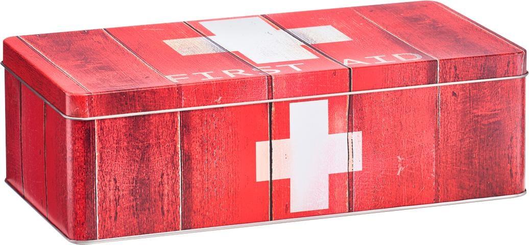 Zeller Present Aufbewahrungsbox First Aid, Metall, rot Kleideraufbewahrung Aufbewahrung Ordnung Wohnaccessoires