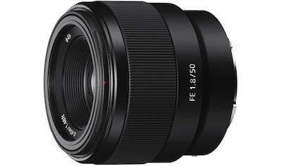 Sony Objektiv »SEL-50F18F E-Mount Vollformat«, E 50mm F1.8, APS-C kaufen