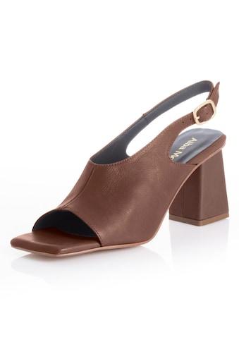 Alba Moda Sandalette, mit ausgeprägtem Carrée kaufen