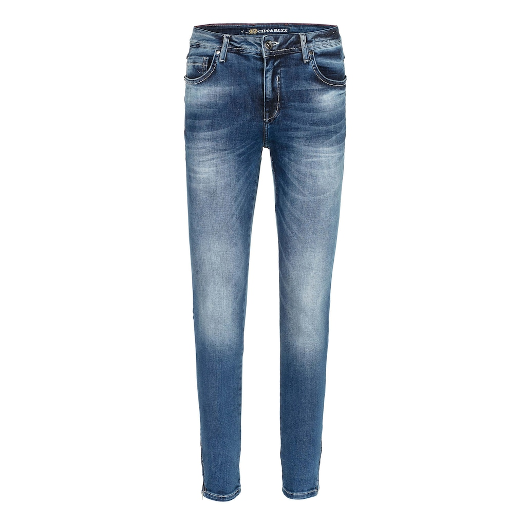 Cipo & Baxx Slim-fit-Jeans, mit cooler Waschung in Straight Fit