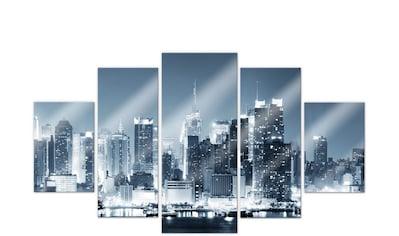 Wall-Art Mehrteilige Bilder »Nacht in New York (5-teilig)«, (Set, 5 St.) kaufen