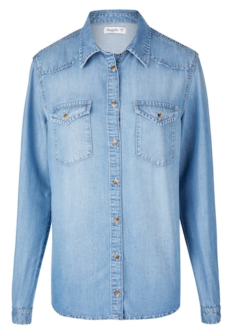 ANGELS Hemd ,Casual Shirt' in Jeansoptik kaufen