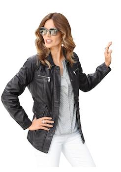 Online-Shop großartiges Aussehen üppiges Design Damen Lederjacke kurz bestellen » auch auf Rechnung   BAUR