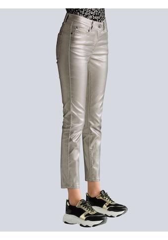 Alba Moda 7/8-Jeans, allover im trendaktuellen Folienprint kaufen