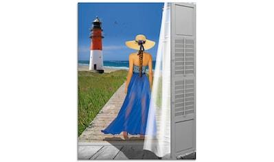 Artland Glasbild »Urlaub am Meer«, Frau, (1 St.) kaufen