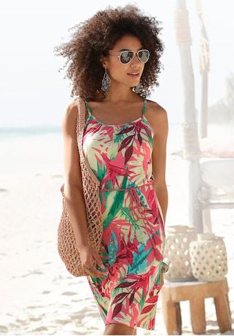 Buffalo Sommerkleid, (mit Bindeband), und buntem Tropicalprint kaufen