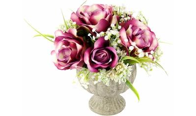 I.GE.A. Kunstpflanze »Arrangement Rosen in Pokal« (1 Stück) kaufen