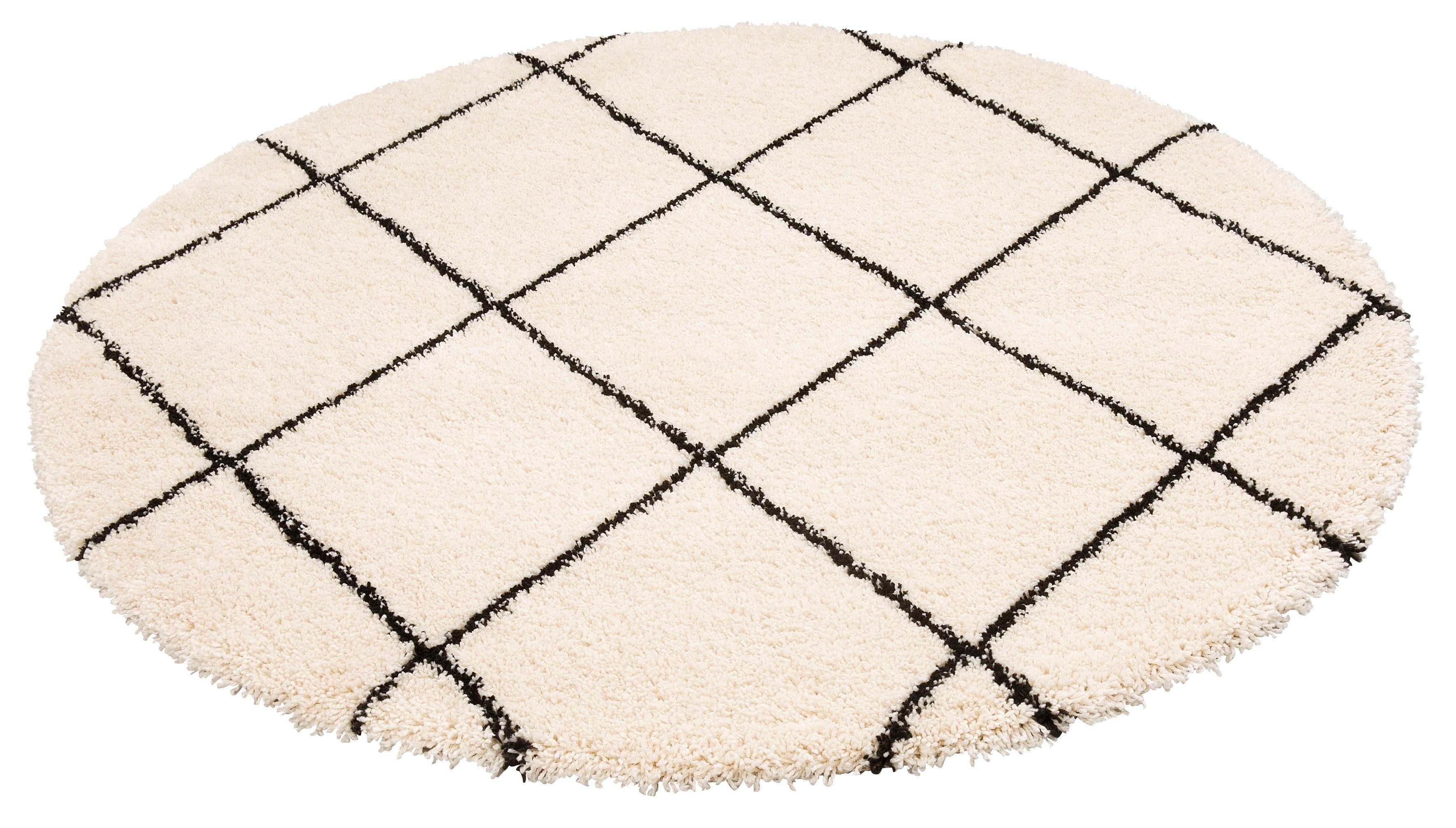 Hochflor-Teppich Belle Leonique rund Höhe 35 mm maschinell gewebt