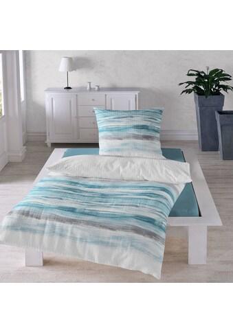 TRAUMSCHLAF Bettwäsche »Wellen«, bügelfreie Seersucker Qualität kaufen