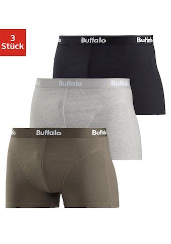 Buffalo Boxer, (Packung, 3 St., 3er-Pack), mit Overlock-Nähten vorn kaufen