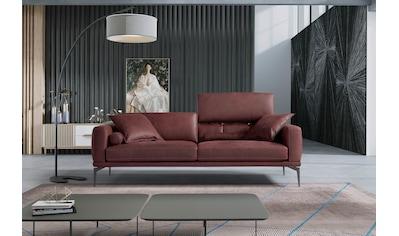 Egoitaliano 2,5-Sitzer »Masu«, Kopfteile/Rueckenkissen manuell verstellbar, mit Metallfüßen kaufen