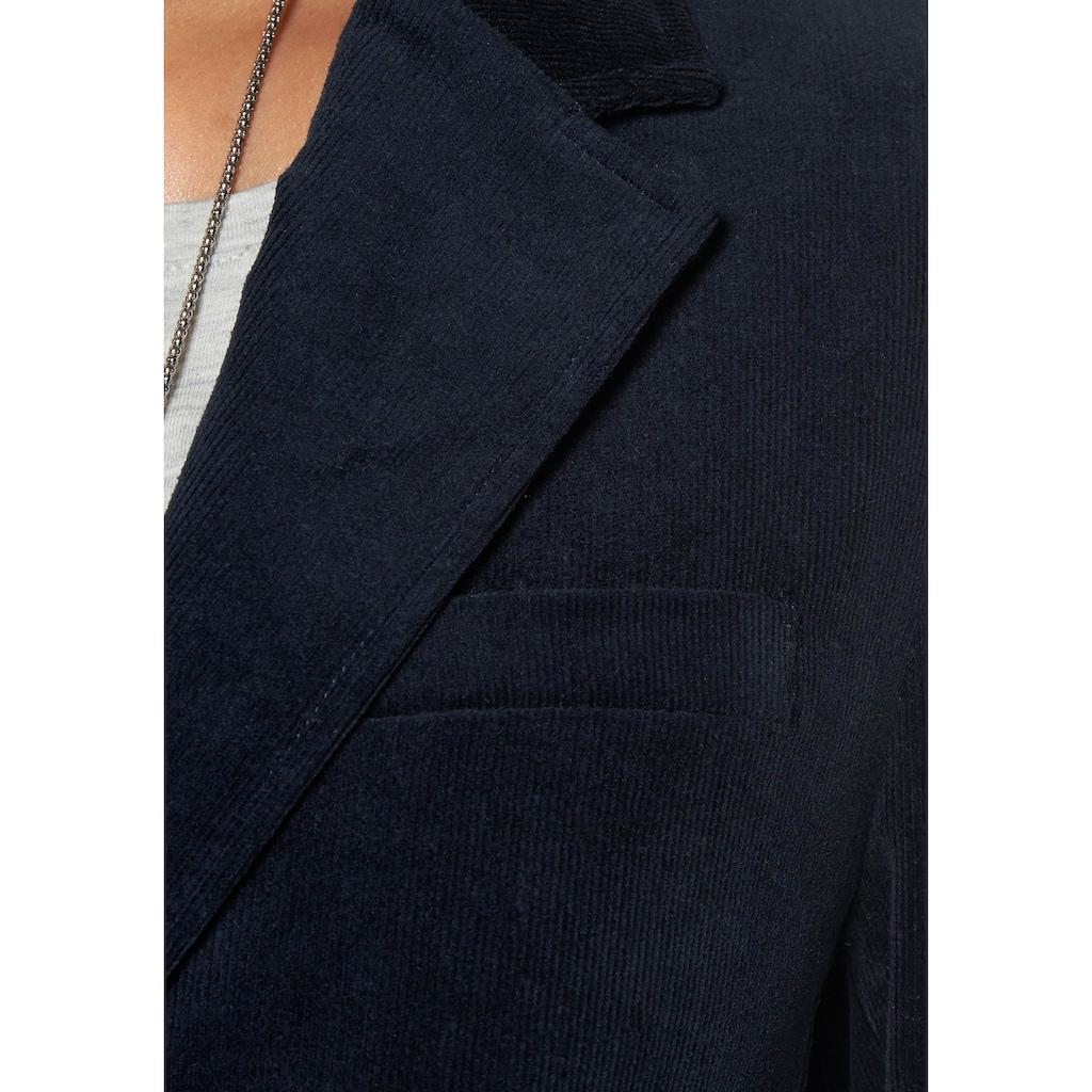 Aniston CASUAL Jackenblazer, mit Lederimitat-Einfassungen und Ärmelpatches