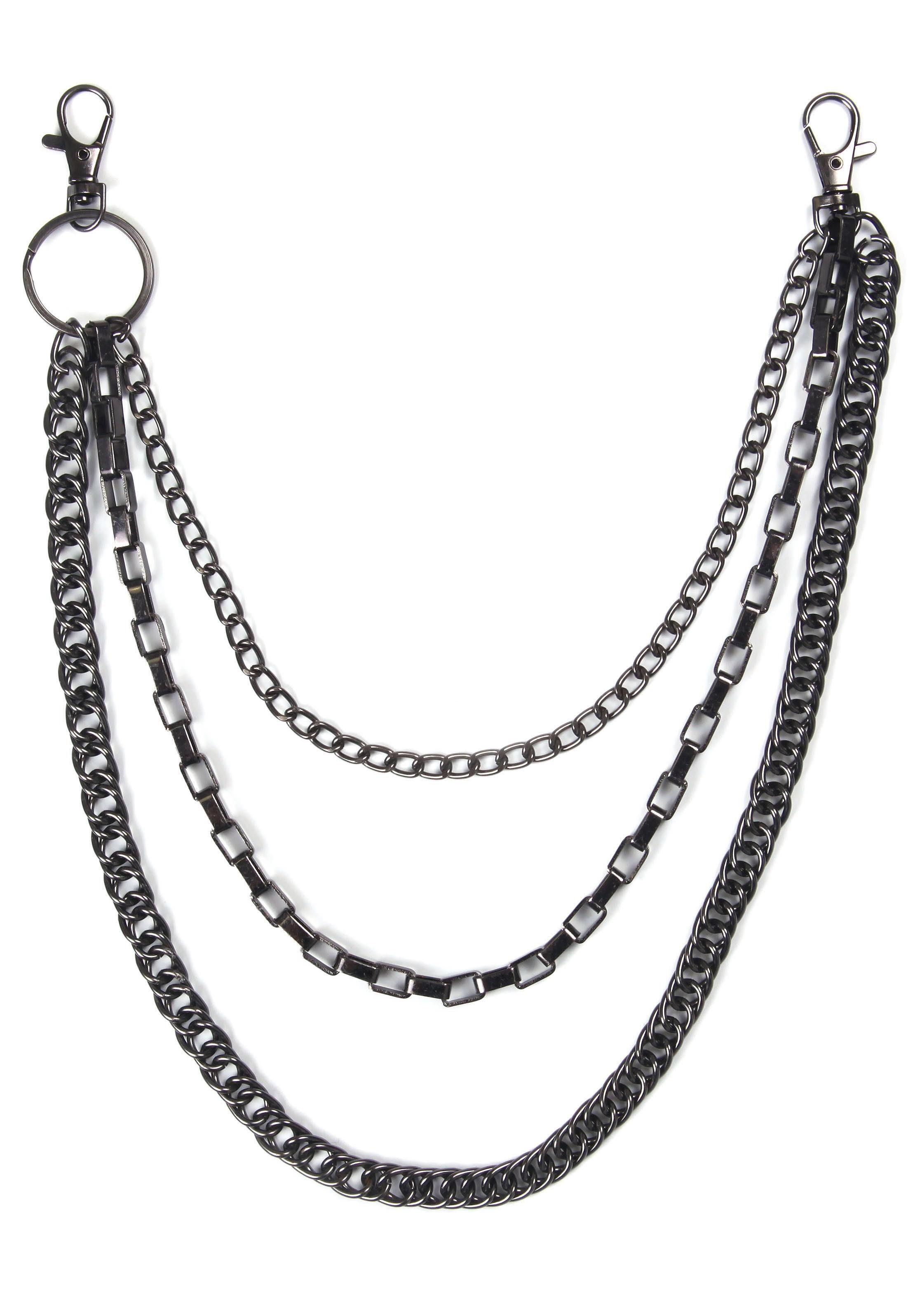 J.Jayz Hosenkette, mehrreihige Venezianer-/Gliederkettengliederung, Kreuz | Schmuck > Halsketten > Gliederketten | J.Jayz