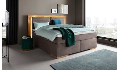 Places of Style Boxspringbett »Cup«, mit LED-Beleuchtung, Massivholzrahmen und Topper,... kaufen