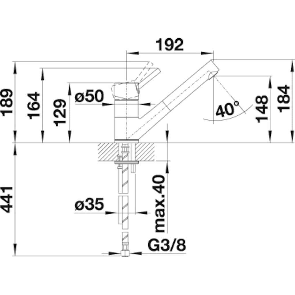 Blanco Küchenarmatur »ANTAS-S«, Niederdruck, mit ausziehbarem Auslauf