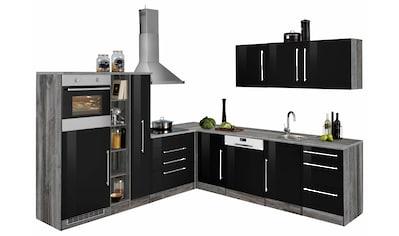 HELD MÖBEL Winkelküche »Samos«, mit E - Geräten, Stellbreite 260 x 270 cm mit Stangengriffen aus Metall kaufen