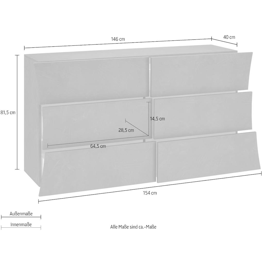 Tecnos Kommode »Arco«, Frontbreite 146-154 cm