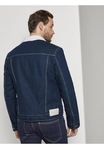TOM TAILOR Winterjacke »Jeansjacke mit Teddyfutter« kaufen