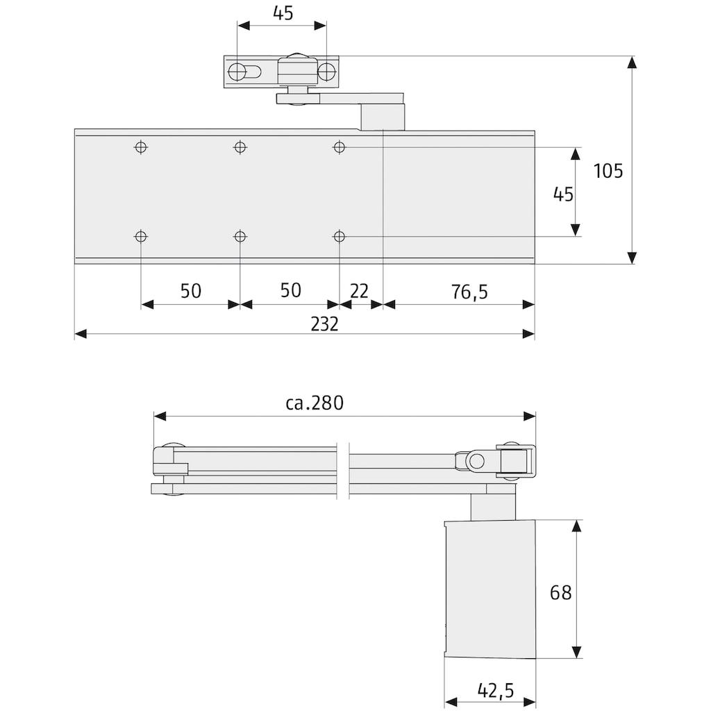 ABUS Türschließer »8603 V silber«, für Haustüren und Wohnungs- Abschlusstüren