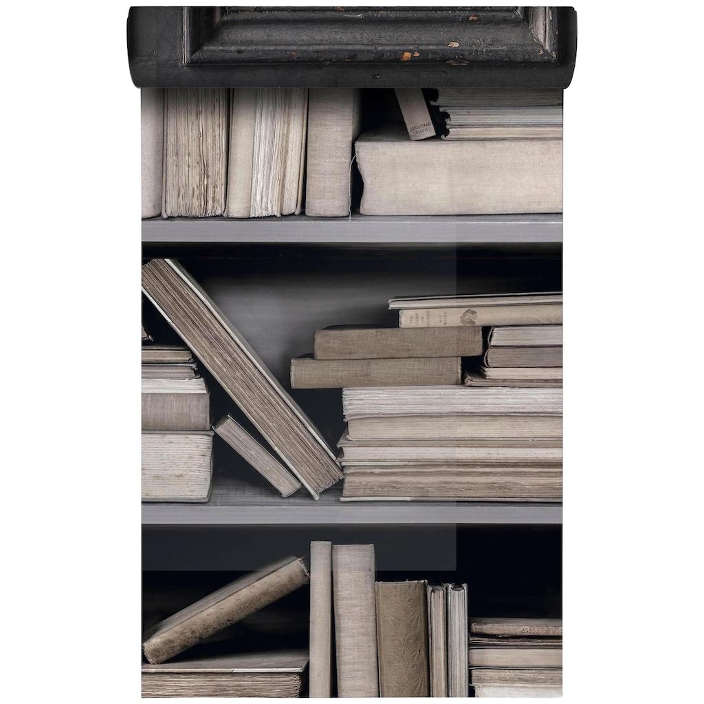 Bodenmeister Fototapete »3d Effekt Bücherregal hell«