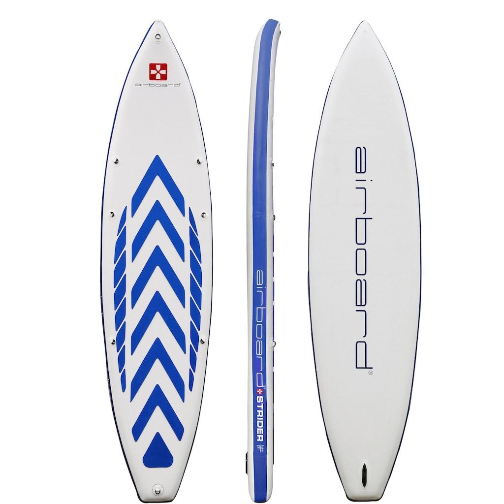 Airboard Inflatable SUP-Board »Airboard STRIDER«, (Set, 5 tlg., mit Pumpe und Transportrucksack)
