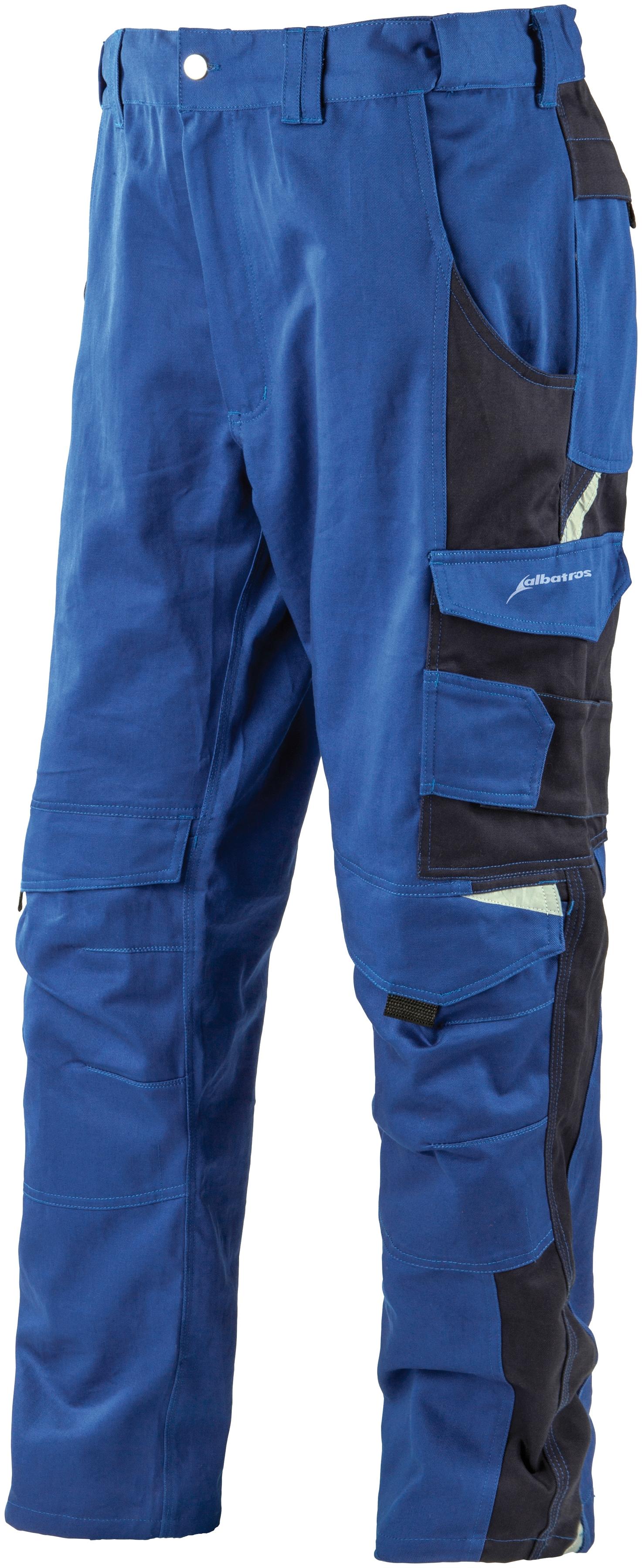Albatros Arbeitshose Profi Line, mit reflektierenden Elementen blau Arbeitshosen Arbeits- Berufsbekleidung