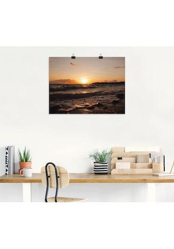 Artland Wandbild »Sonnenuntergang am Meer«, Sonnenaufgang & -untergang, (1 St.), in... kaufen