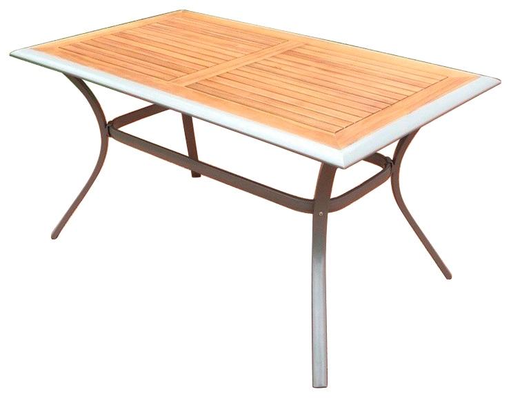 MERXX Gartentisch Siena Alu/Akazie 140x80 cm